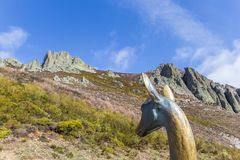Statue of a deer in Picos de Europa Stock Photography