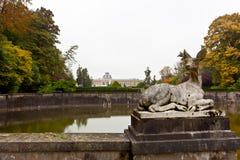Statue deer, Royal Museum for Central Africa, Tervuren, Belgium Stock Images