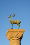 Statue of deer - symbol of Rhodes Stock Photography