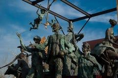Statue dei caratteri e di Ion Luca Caragiale Fotografia Stock Libera da Diritti