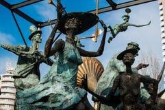 Statue dei caratteri e di Ion Luca Caragiale Immagine Stock
