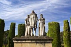 Statue dei monarchi e di Christopher Columbus cattolici fotografie stock libere da diritti