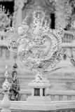 The statue of the deity. Statue of the mythical deity of the temple - Wat Rong Khun in Chiang Rai South Asia stock photo