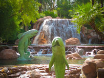Statue del delfino Fotografia Stock