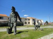 Statue del metallo degli uomini Immagini Stock Libere da Diritti