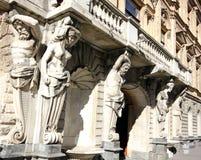 Statue del monumento storico in San Pietroburgo Immagini Stock Libere da Diritti