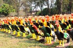Statue del pollo Fotografia Stock Libera da Diritti