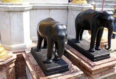 Statue dell'elefante nel grande palazzo, Bangkok, Tailandia, Asia Immagini Stock Libere da Diritti