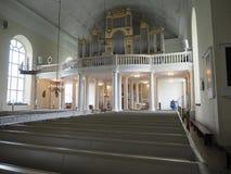 Statue dell'interno della cattedrale di Oulu fotografie stock libere da diritti