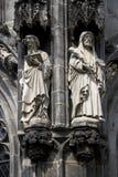 Statue della cattedrale di Aquisgrana Fotografia Stock Libera da Diritti