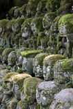 Statue della pietra di Otagi Nenbutsu-ji Fotografie Stock