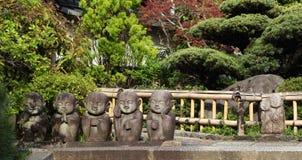 Statue della rana pescatrice buddista Fotografia Stock