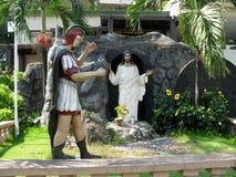 Statue della resurrezione, santuario nazionale di pietà divina in Marilao, Bulacan immagini stock libere da diritti