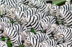 Statue della zebra in Tailandia immagine stock