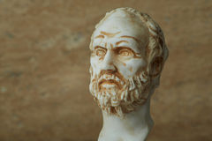 Statue of Demokritus,ancient greek philosopher. Royalty Free Stock Photos
