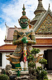 Statue of demon (Giant, Titan) at Wat Arun, Landmark and No. 1 tourist attractions in Thailand. Stock Photography