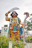 The statue of the demon Mahishasura, Mysore Royalty Free Stock Photo