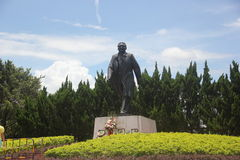 The statue of Deng Xiaoping Great strides walk in SHENZHEN Royalty Free Stock Image