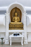 A statue depicting the first preaching of Dhama by Buddha. Stock Image