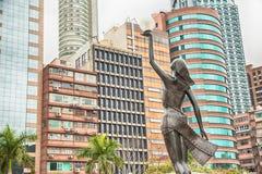 Statue in der Allee von Sternen in Hong Kong Stockfoto