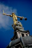 Statue der Dame Justice Lizenzfreies Stockfoto