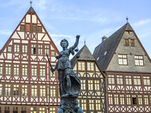 Statue der Dame Justice in Frankfurt-am-Main Stockbild