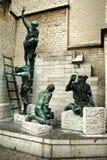Statue der Erbauer, Antwerpen Stockfoto