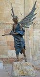 Statue der Frau mit Flügeln Lizenzfreies Stockfoto