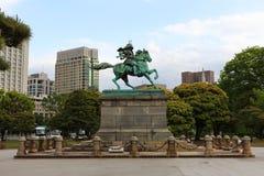 Statue der großen Samurais Kusunoki Masashige lizenzfreie stockfotografie
