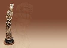 Statue der indischen Göttin der Ergiebigkeit im Elfenbein Lizenzfreies Stockfoto