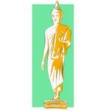 Statue der Segnung von Buddha lizenzfreie abbildung