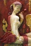Statue der siamesischen Frauen Lizenzfreie Stockfotografie