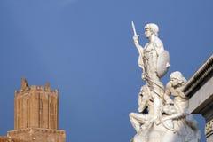 Statue der Stärke, Altare-della Patria, Rom Lizenzfreies Stockfoto