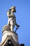 Statue des Admirals Nelson auf Nelsons Spalte Stockfotografie