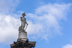 Statue des Admirals Nelson in London Lizenzfreies Stockfoto