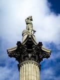 Statue des Admirals Nelson, Trafalgar-Platz Stockfotografie