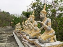 Statue des anges dans le temple Image stock