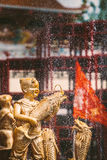 Statue des asiatischen Kindes Lizenzfreie Stockbilder