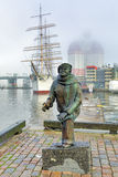Statue des Autors, des Komponisten und des Sängers Evert Taube in Gothenburg Stockfotos