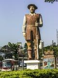 Statue des Bandeirante Borba Gato im Sao Paolo, Brasilien Lizenzfreies Stockbild
