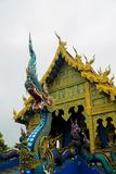 Statue des blauen Drachen im blauen Tempel Chiang Rai, Thailand Lizenzfreie Stockfotos