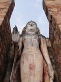 Statue des Buddhas mit seiner Hand Stockbild