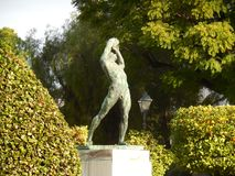 Statue des Diskuswerfers, Athen, Griechenland lizenzfreie stockfotografie