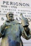 Statue des DOM Perignon Photographie stock libre de droits