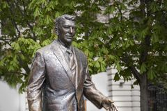 Statue des ehemaligen U S Präsident Ronald Reagan Stockbilder