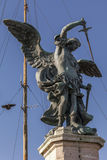 Statue des Erzengels Michael bei Castel Sant ' Angelo Stockbild
