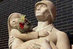 Statue des Feuerwehrmannes in Barcelona Lizenzfreies Stockfoto