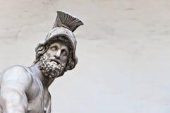 Statue des griechischen Helden Menelaus, der Patroclus in Florenz hält Lizenzfreies Stockbild