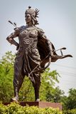 Statue des großen Kriegers Arjuna Stockfotografie