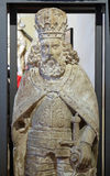 Statue des Heiligen, Altar von der Kirche von St Mark, ausgestellt am Museum der Stadt von Zagreb Lizenzfreie Stockfotos
